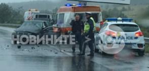 """Кола удари линейка, дошла на помощ на АМ """"Тракия"""", има ранени (ВИДЕО+СНИМКИ)"""