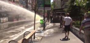 Водомети, сълзотворен газ и арести при протест в Анкара (ВИДЕО)