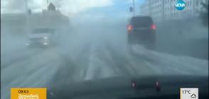 Едра градушка изпочупи коли и покриви в Китай (ВИДЕО)