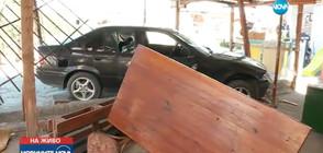 Дрогиран шофьор без книжка се заби в къща в София (ВИДЕО)