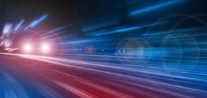 ГОНКА: 10 полицейски коли преследваха криминално проявен