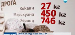 ДРОГА ЗА НАД 70 МЛН. ЛВ.: Митниците отчитат ръст в наркотрафика