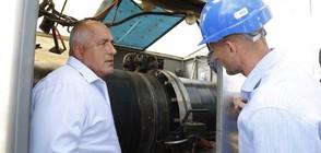 Борисов инспектира изграждането на газопроводна отсечка (ВИДЕО+СНИМКИ)