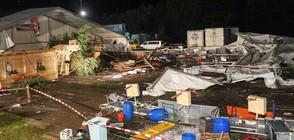 Буря отнесе шатра на бирен фест в Австрия, има загинали (СНИМКИ)