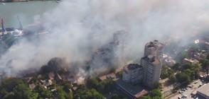 Стотици са евакуирани заради пожар в руски град (ВИДЕО)