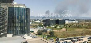 Голям пожар избухна в склад в столичен квартал (ВИДЕО+СНИМКИ)