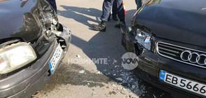Катастрофа в Габрово, има ранена жена (СНИМКИ)