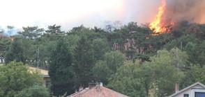 """Огромен пожар близо до стадион """"Берое"""" в Стара Загора (ВИДЕО+СНИМКИ)"""