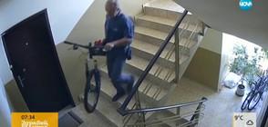 """""""Дръжте крадеца"""": Кражба на колело от жилищен вход (ВИДЕО)"""