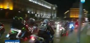 Хиляди мотори превзеха улиците на София за нощно каране (ВИДЕО)