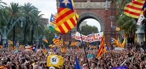 Половин милион на протест, след като Мадрид пое контрола върху Каталуния (ВИДЕО)