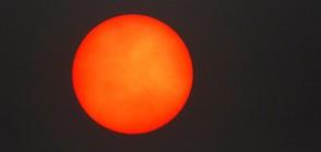 Прах от Сахара и червено слънце в небето над Лондон (ВИДЕО)