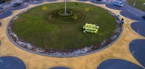 Eкозащитници нарисуваха слънце в центъра на Перник