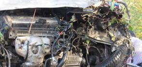 Катастрофа между кола и два тира затвори пътя Русе – Разград (ВИДЕО+СНИМКИ)