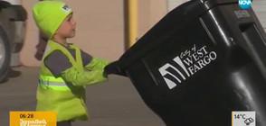 """СБЪДНАТА МЕЧТА: Деца """"работят"""" като боклуджии за един ден (ВИДЕО)"""