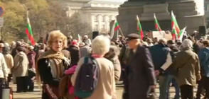 Пенсионери протестират за по-високи пенсии (ВИДЕО)