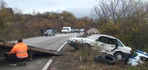 Кола помля патрулка, докато полицаите правели оглед на катастрофа (СНИМКИ)