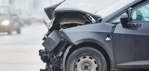 Пиян шофьор помете коли и автобус край Пловдивския панаир