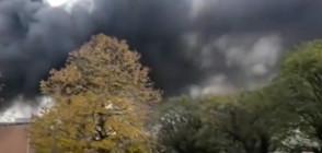 Огромен пожар в белгийска фабрика за гофрети (ВИДЕО)