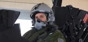 Румен Радев полетя с френски изтребител (ВИДЕО+СНИМКИ)