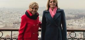 Разходката на Брижит Макрон и Десислава Радева из Париж (СНИМКИ)