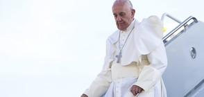 Папата венча двойка на борда на самолет (ВИДЕО+СНИМКИ)