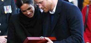 Подариха на Хари и Меган любовна лъжица (ВИДЕО+СНИМКИ)
