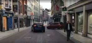 Да се опиташ да разбиеш магазин с кола и да не успееш (ВИДЕО)