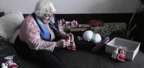 БАБА МАРТА ОТ МОНТАНА: Възрастна социално слаба жена прави мартеници