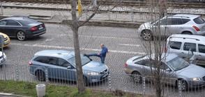 """От """"Моята новина"""": Шофьор налита на бой на друг шофьор (ВИДЕО)"""