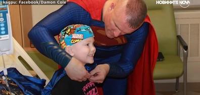 Полицай се превръща в супергерой, за да помага на деца (ВИДЕО)
