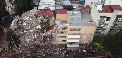 Кадри отвисоко: Мексико след катастрофалното земетресение (ВИДЕО)