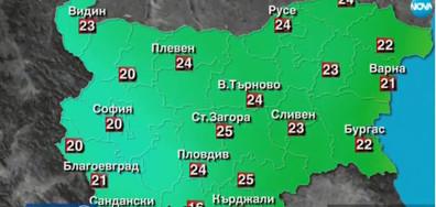 Прогноза за времето (24.09.2017 - централна)