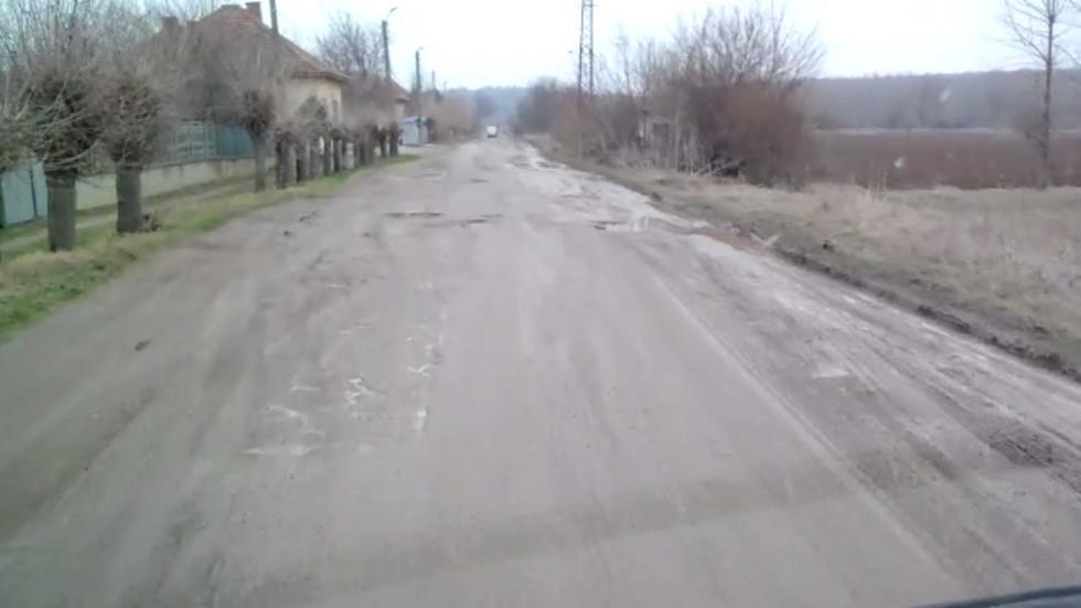 Пътят Монтана-Козлодуй. Отсечката с. Михайлово - с. Хайредин