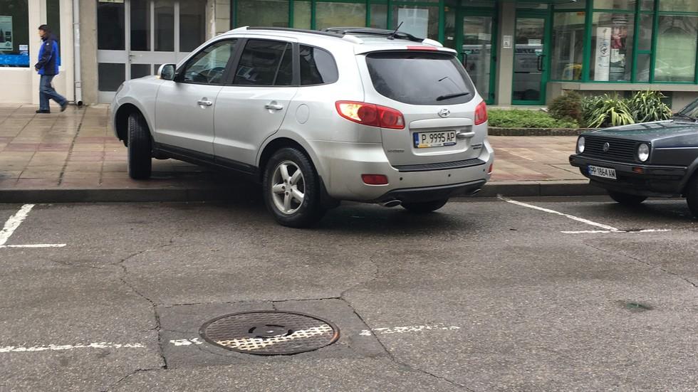 Паркиране по русенски в Разград