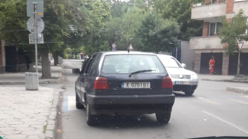 Паркиране по пешеходна пътека