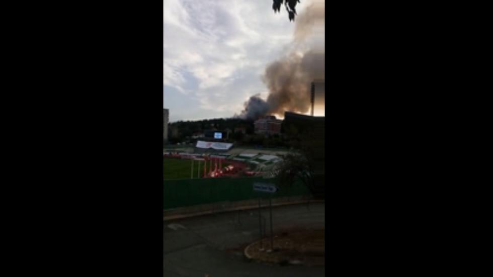"""Пожар край стадион """"Берое"""""""