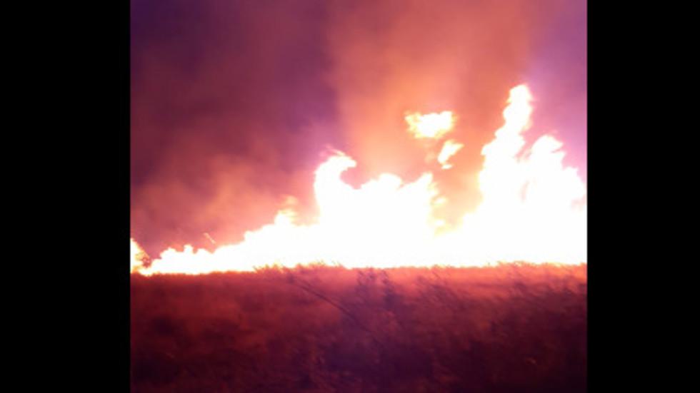 Голям пожар в с. Карабунар