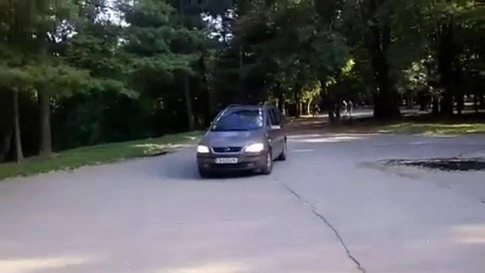 Шофиране в Южния парк в София