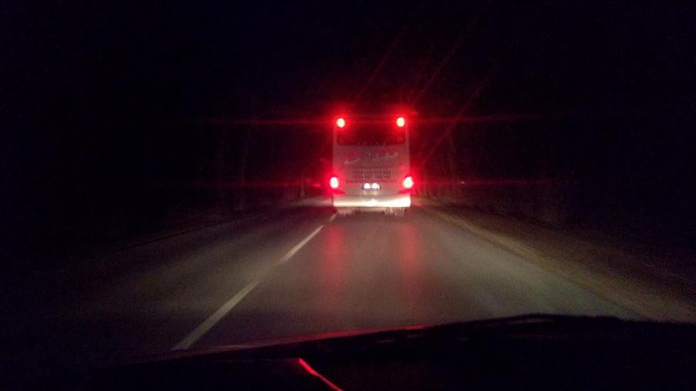 Автобус кара с превишена скорост