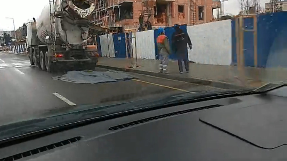 Бетонобъркачка на пешеходна пътека