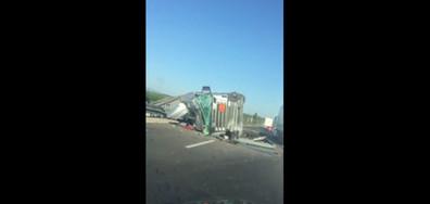 """Катастрофа на тир на магистрала """"Тракия"""""""