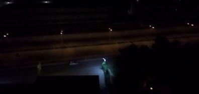 Тотален тормоз от мотористи