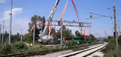 Инцидент при разтоварване на швейцарските трамваи