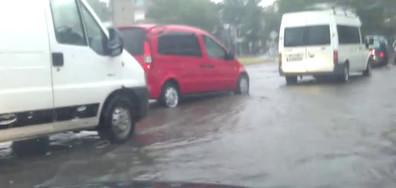 Наводнение на автогарата в Кърджали