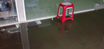 Наводнен подлез в Бургас