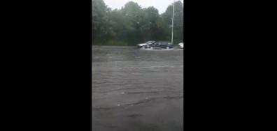 Пороен дъжд в Бургас