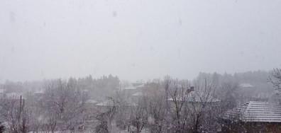 Снегът в село Згалево