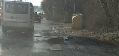 """Софийският булевард """"Климент Охридски"""" - осеян с дупки"""