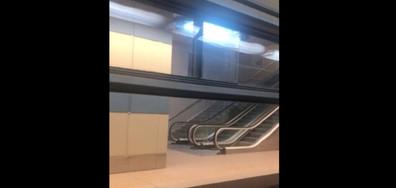 Дъждът и в метрото върху релсите